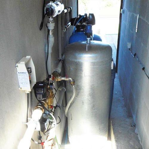 Realizace - filtrace vody pomocí multifunkční náplně