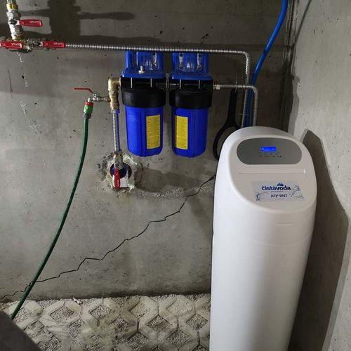 Realizace - změkčení vody a uhlíkové filtrace Voderady